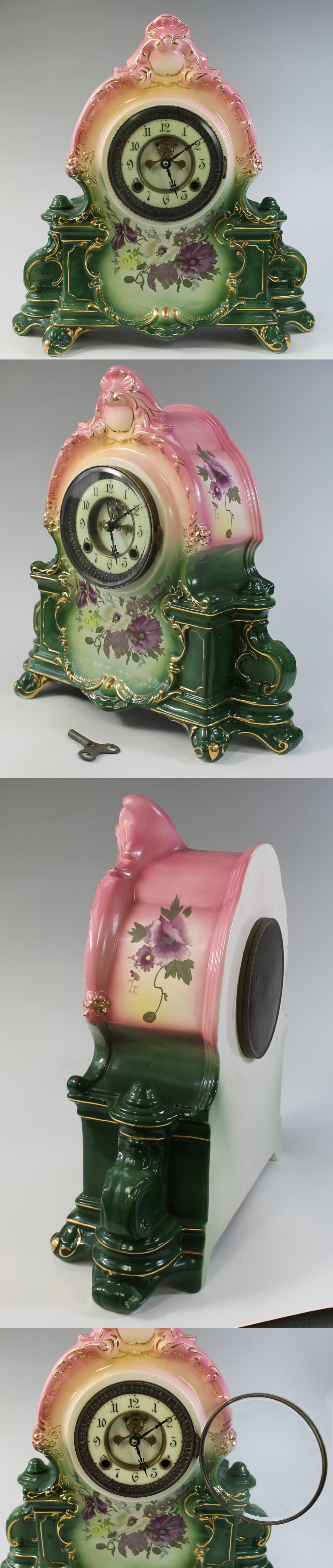 184陶器製置時計1