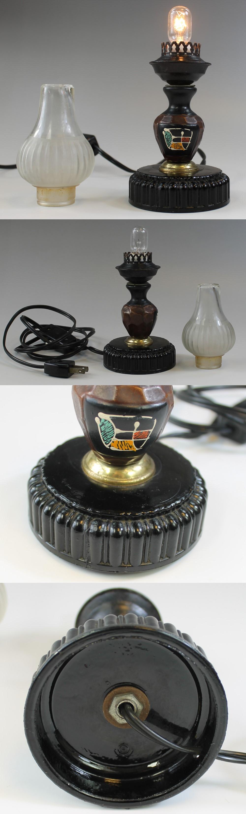 308黒ガラスベースデスクランプ2